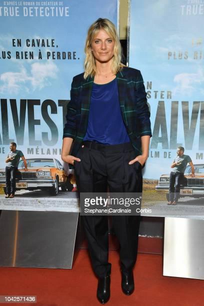 Melanie Laurent attends the Galveston Paris Premiere at UGC Cine Cite des Halles on September 28, 2018 in Paris, France.