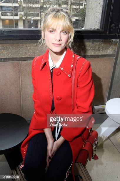 Melanie Laurent attends the Miu Miu show as part of the Paris Fashion Week Womenswear Fall/Winter 2018/2019 on March 6, 2018 in Paris, France.