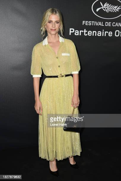 Melanie Laurent attends the photocall ahead of the Chopard Trophy dinner during the 74th annual Cannes Film Festival on July 09, 2021 in Cannes,...