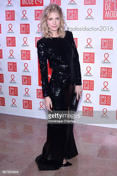 Melanie Laurent attends the Sidaction Gala Dinner 2016 as part of Paris Fashion Week on January 28 2016 in Paris France