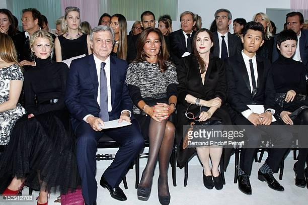 Melanie Laurent, Dior CEO Sidney Toledano, his wife Katia Toledano, Amira Casar, Xia Yu and Yuan Quan attend the Christian Dior Spring / Summer 2013...