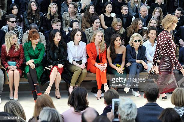 Melanie Laurent Kim Heesun Vicki Zhao Michelle Dockery Rosie HuntingtonWhiteley Freida Pinto Rita Ora Kate Beckinsale and Lily Mo Sheen sit in the...