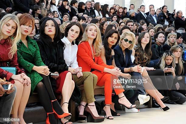 Melanie Laurent Kim Heesun Vicki Zhao Michelle Dockery Rosie HuntingtonWhiteley Freida Pinto Rita Ora Kate Beckinsale and Lily Mo Sheen sit in the...