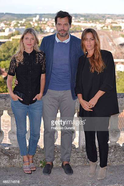 Melanie Laurent Laurent Lafitte and Audrey Dana pose at a photocall for the film 'Boomerang' during the 8th Angouleme FrenchSpeaking Film Festival on...