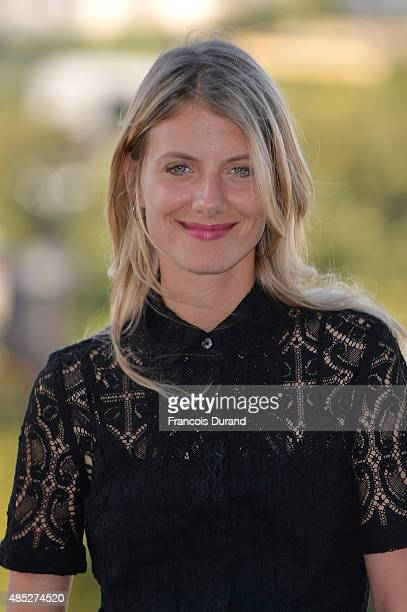 Melanie Laurent poses at a photocall for the film 'Boomerang' during the 8th Angouleme FrenchSpeaking Film Festival on August 26 2015 in Angouleme...