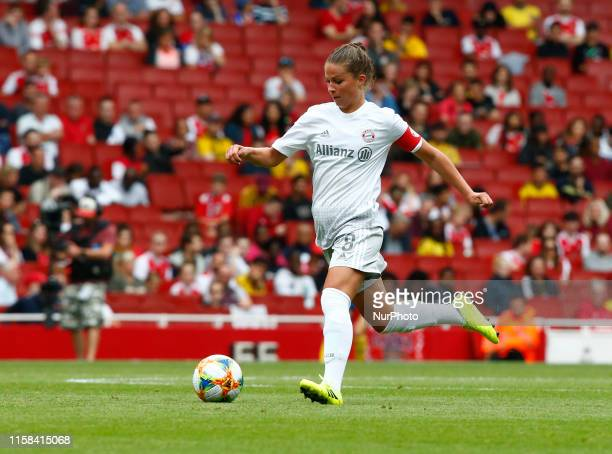 Melanie Leupolz of Bayern Munich Frauen during Emirates Cup between Arsenal and Bayern Munich Women at Emirates stadium London England on 28 July 2019