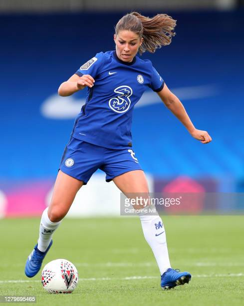 Melanie Leupolz of Chelsea during the Barclays FA Women's Super League match between Chelsea Women and Manchester City Women at Kingsmeadow on...