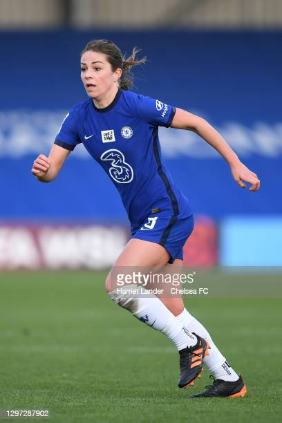 Melanie Leupolz of Chelsea runs on during the Barclays FA Women's Super League match between Chelsea Women and Manchester United Women at Kingsmeadow...