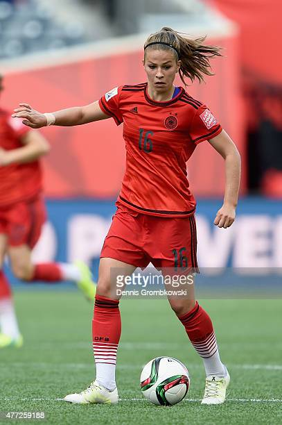 Melanie Leupolz of Germany controls the ball during the FIFA Women's World Cup Canada 2015 Group B match between Thailand and Germany at Winnipeg...