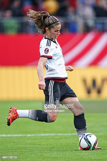 Melanie Leupolz of Germany controls the ball during the UEFA Women's Euro 2017 Qualifier match between Germany and Turkey at Hardtwaldstadion on...