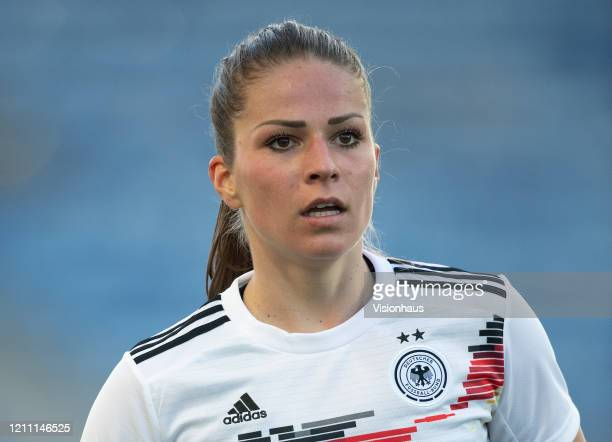 Melanie Leupolz of Germany during the Algarve Cup quarterfinal match between Gernany Women and Sweden Women at Estádio Algarve on March 04 2020 in...