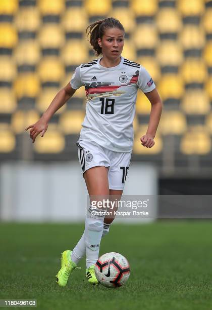Melanie Leupolz of Germany in action during the UEFA Women's European Championship 2021 qualifier match between Greece and Germany at Kleanthis...