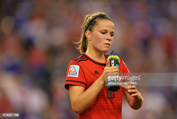 Melanie Leupolz of Germany looks dejected during the FIFA Women's World Cup Semi Final match between USA and Germany at Olympic Stadium on June 30...