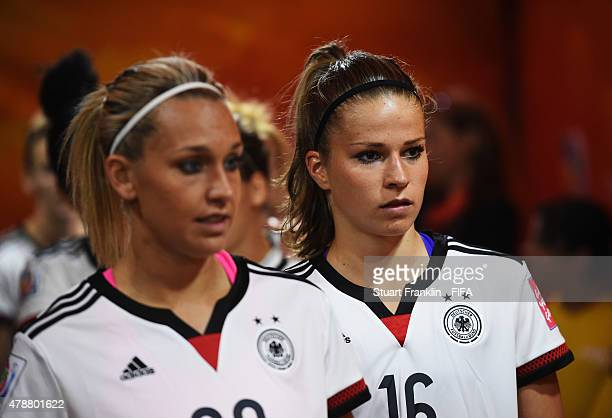 Melanie Leupolz of Germany looks on in the players tunnel prior to the quarter final match of the FIFA Women's World Cup between Germany and France...