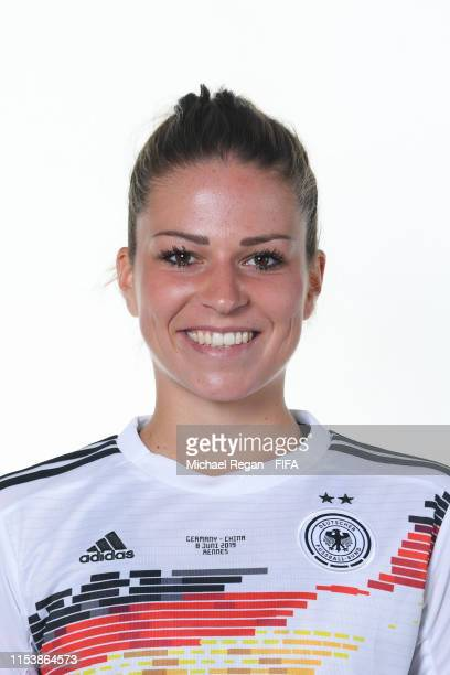 Melanie Leupolz of Germany poses for a portrait during the official FIFA Women's World Cup 2019 portrait session at Domaine de CiceBlossac on June 05...