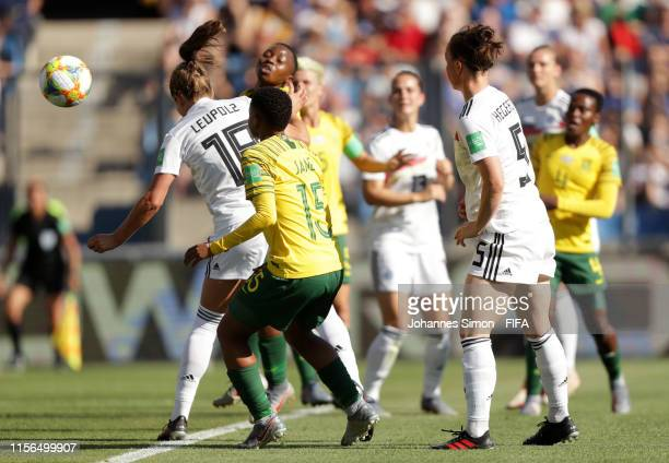 Melanie Leupolz of Germany scores her team's first goal during the 2019 FIFA Women's World Cup France group B match between South Africa and Germany...