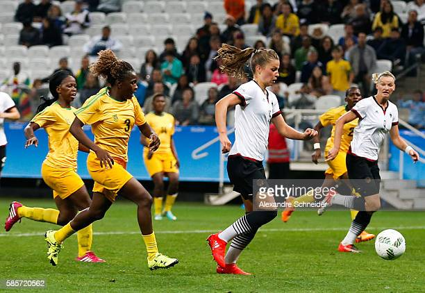 Melanie Leupolz of Germany scores their fifth goal during the match between Zimbabwe and Germany for summer olympics at Arena Corinthians on August 3...