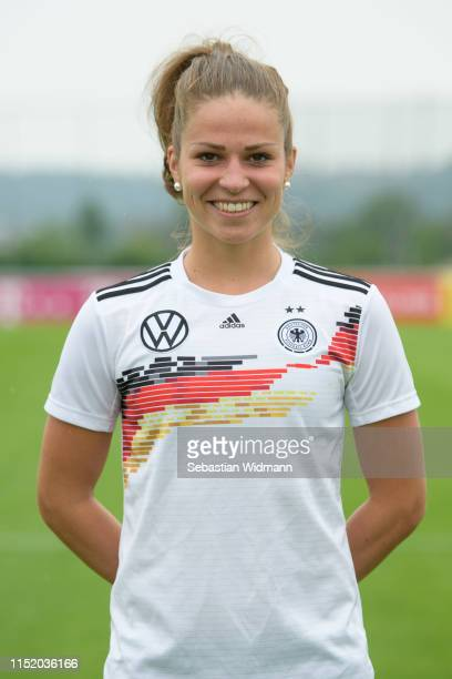 Melanie Leupolz poses during Germany Women's Team Presentation on May 27 2019 in Grassau Germany