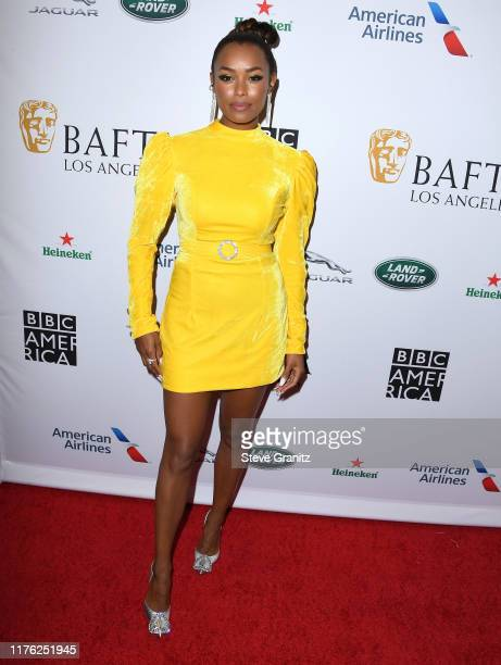 Melanie Liburd arrives at the BAFTA Los Angeles + BBC America TV Tea Party 2019 at The Beverly Hilton Hotel on September 21, 2019 in Beverly Hills,...