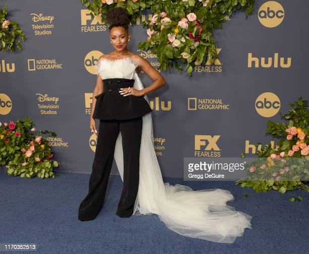 Melanie Liburd arrives at the Walt Disney Television Emmy Party on September 22 2019 in Los Angeles California