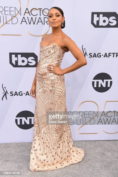 Melanie Liburd attends the 25th Annual Screen Actors Guild Awards at The Shrine Auditorium on January 27, 2019 in Los Angeles, California.