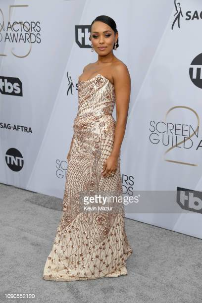 Melanie Liburd attends the 25th Annual Screen Actors Guild Awards at The Shrine Auditorium on January 27, 2019 in Los Angeles, California. 480568