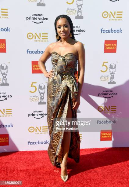 Melanie Liburd attends the 50th NAACP Image Awards at Dolby Theatre on March 30, 2019 in Hollywood, California.