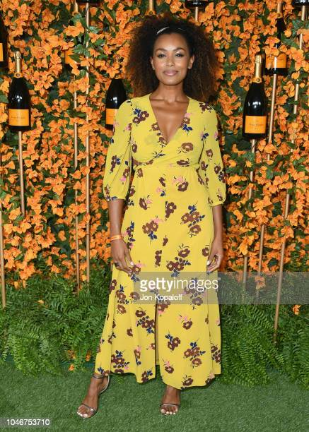 Melanie Liburd attends the 9th Annual Veuve Clicquot Polo Classic Los Angeles at Will Rogers State Historic Park on October 6, 2018 in Pacific...