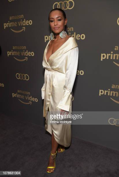 Melanie Liburd attends the Amazon Prime Video's Golden Globe Awards After Party at The Beverly Hilton Hotel on January 6, 2019 in Beverly Hills,...