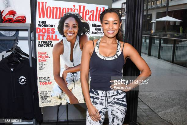 Melanie Liburd attends the Women's Health National Workout Buddy Day event at Gloveworx LA at Century City on March 01, 2019 in Los Angeles,...