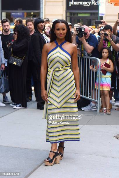 Melanie Liburd seen out in Manhattan on June 29, 2017 in New York City.