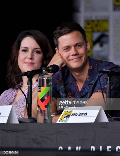 Melanie Lynskey and Bill Skarsgard speak onstage at Hulu's World Premiere Screening of Castle Rock during ComicCon International 2018 at San Diego...