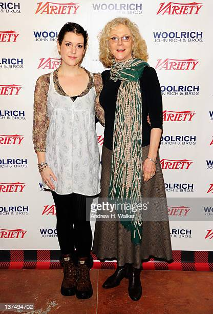 Melanie Lynskey and Blythe Danner attend Day 1 of The Variety Studio at The 2012 Sundance Film Festival at Variety Studio on January 21 2012 in Park...
