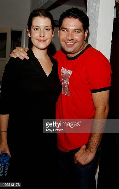Melanie Lynskey and Joel Michaely during Power Up Late Night Luau Party Celebrating Film Grant Program Shorts Official Selection of Outfest 2003 at...