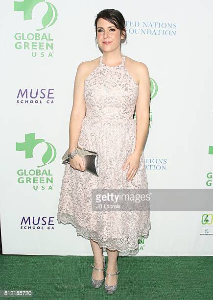 Melanie Lynskey attends Global Green USA's 13th annual preOscar party at Mr C Beverly Hills on February 24 2016 in Los Angeles California