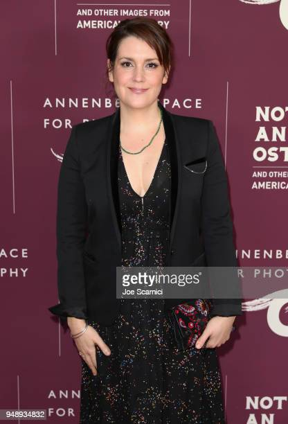 Melanie Lynskey attends the Annenberg Space for Photography's Not An Ostrich Exhibit Opening Party at the Annenberg Space For Photography on April 19...