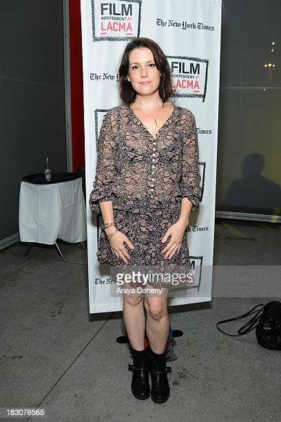 Melanie Lynskey attends the Film Independent at LACMA Cameras d'Afrique The Cinema of West Africa opening night reception screening QA at LACMA on...