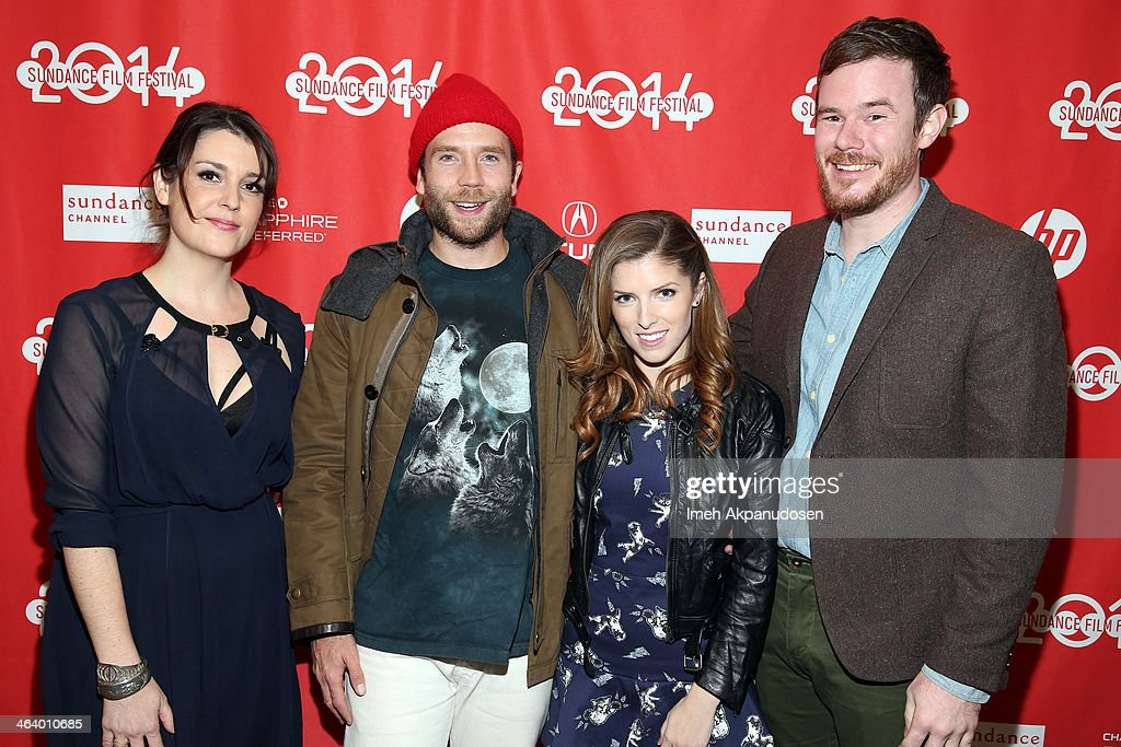 Melanie Lynskey, Mark Webber Anna Kendrick and Joe Swanberg attend the 'Happy Christmas' premiere at Library Center Theater during the 2014 Sundance Film Festival on January 19, 2014 in Park City, Utah.