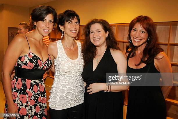 Melanie Lyons Myra Scheer Nicole Paxson and Noreen Barbella attend PURE YOGA Opening at Pure Yoga on July 29 2008 in New York City