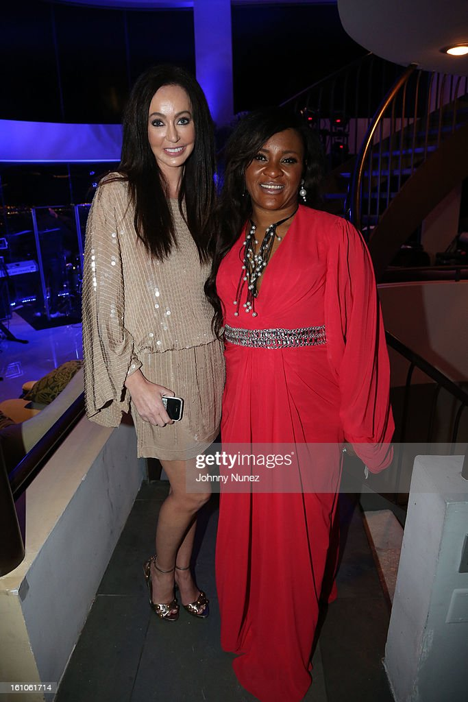 Melanie Mar and Sylvia Babalola attend the Femdouble Producers Choice Honorees Gala at Bel Air Ship Mansion on February 8, 2013 in Belair, California.