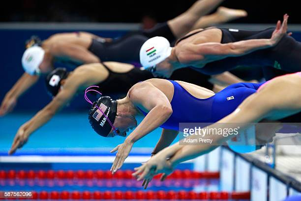 Melanie Margalis of the United States competes in the Semifinal of the Women's 200m Individual Medley on Day 3 of the Rio 2016 Olympic Games at the...