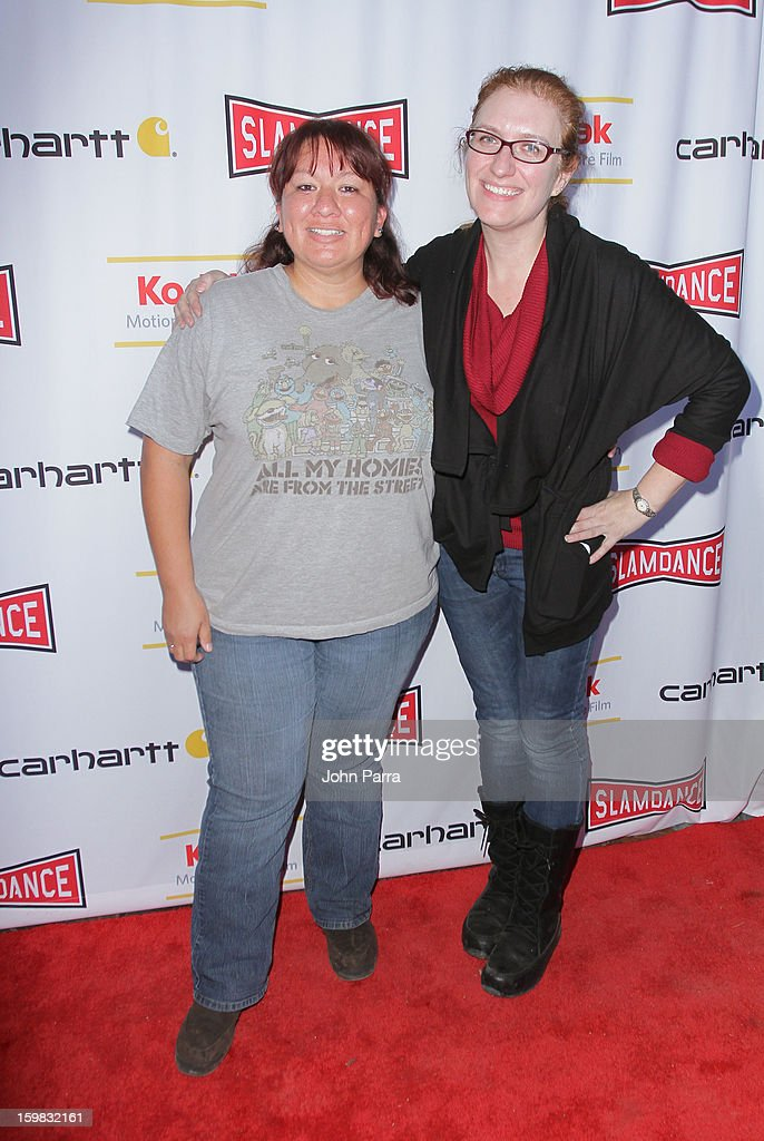 Melanie Marquez and Annie Jeeves attend the Slamdance Film Festival at Slamdance Public House on January 20, 2013 in Park City, Utah.