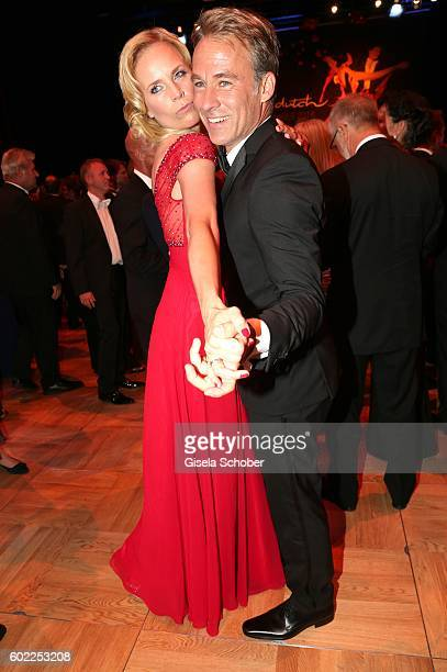 Melanie Marschke and Marco Girnth dance during the Leipzig Opera Ball 'Let's dance Dutch' at alte Oper on September 10 2016 in Leipzig Germany