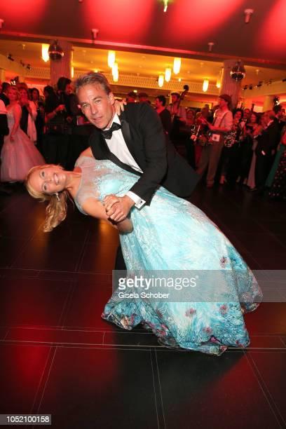 Melanie Marschke and Marco Girnth during the Leipzig Opera Ball Ahoj Cesko on October 13 2018 in Leipzig Germany