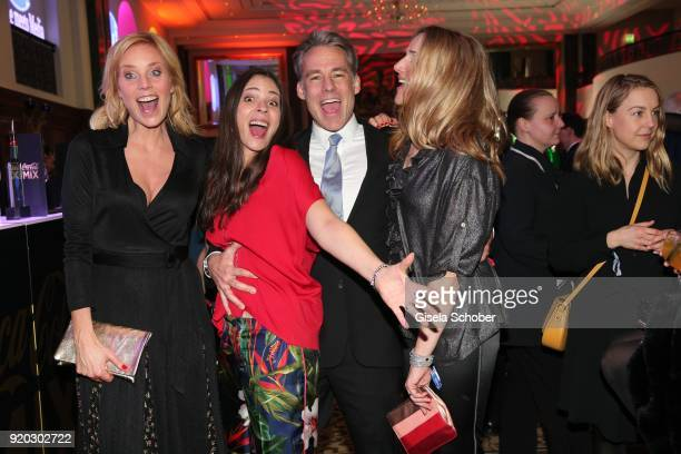 """Melanie Marschke, Katja Woywood and her husband Marco Girnth, Tanja Wedhorn during the Movie Meets Media """"MMM"""" event on the occasion of the 68th..."""