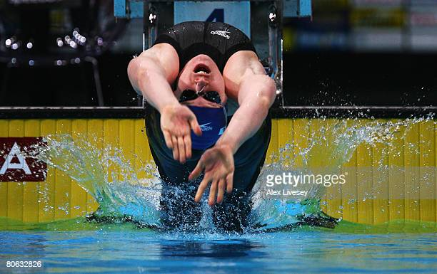 Melanie Marshall of United Kingdom competes in the Women's 4 x 100m Medley Relay during the ninth FINA World Swimming Championships at the MEN Arena...