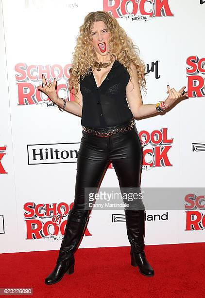 Melanie Masson attends the opening night of 'School Of Rock The Musical' at The New London Theatre Drury Lane on November 14 2016 in London England
