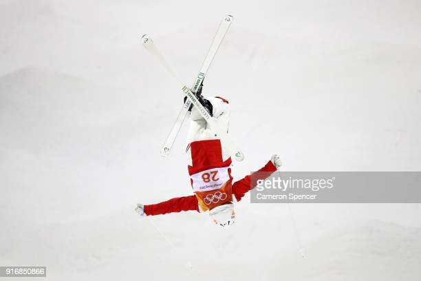 Melanie Meilinger of Austria competes during the Freestyle Skiing Ladies' Moguls Qualification on day two of the PyeongChang 2018 Winter Olympic...
