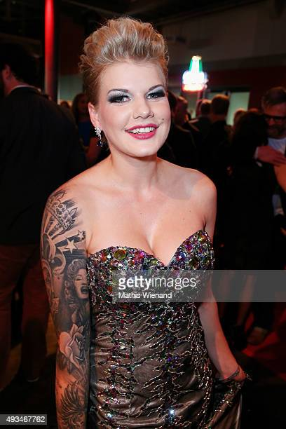 Melanie Mueller attends the 19th Annual German Comedy Awards at Coloneum on October 20 2015 in Cologne Germany