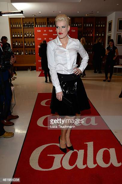 Melanie Mueller attends the GALA Fashion Brunch at Ellington Hotel on January 22 2015 in Berlin Germany